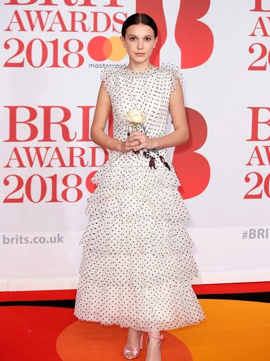 Stars weren't wearing in all-black at the Brit Awards,
