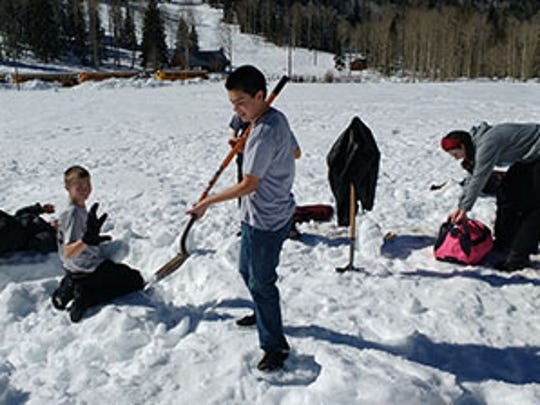 "Canyon View Middle's ""Snow Day"" field trip trip at"