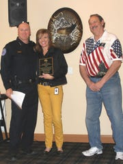 The Elks Lodge awarded Kristine Fowles as the Police Department Civilian Employee of the Year. Members of the Mesquite Police Department made the nominations.