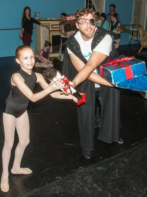 """Rehearsal scenes with the children in Montgomery Ballet's production of """"Nutcracker,"""" set for Dec. 7-10 at the Davis Theatre in Montgomery."""