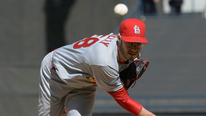 Joe Kelly started Game 5 of the National League Championship Series for the St. Louis Cardinals. Kelly went 2-3 with a 4.75 ERA and struck out 30 batters in 30 1/3 innings for the Batavia Muckdogs in 2009.