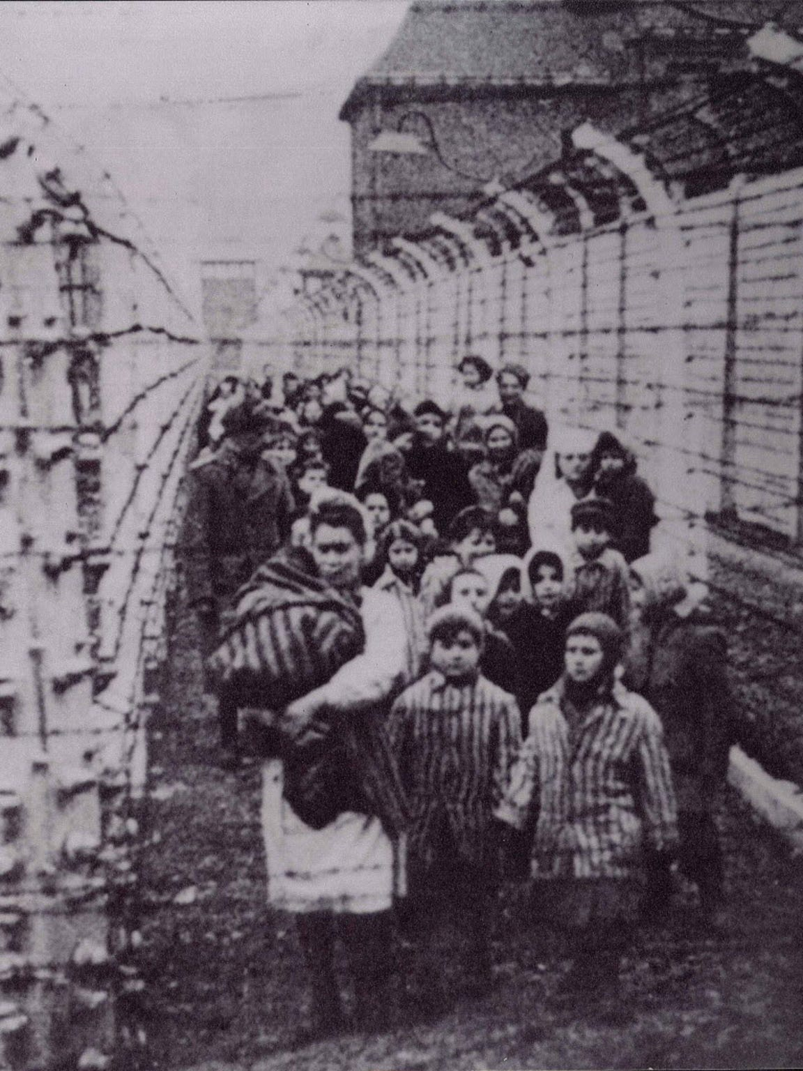 Holocaust survivors liberated from Auschwitz concentration camps on Jan. 27, 1945.