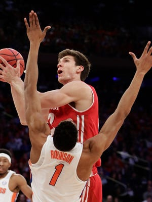 Ethan Happ and the UW men's basketball team will open Big Ten play against Ohio State on Dec. 2 at the Kohl Center.