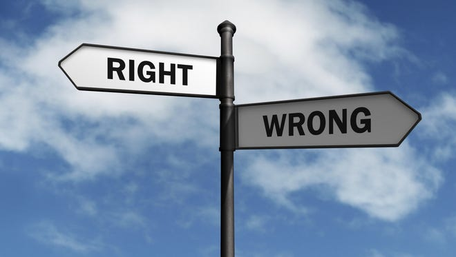 Right and wrong choices.
