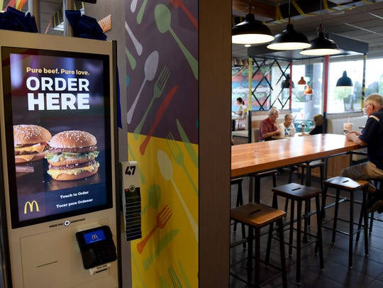 McDonald's has self-serve kiosks at its Cedar Bluff
