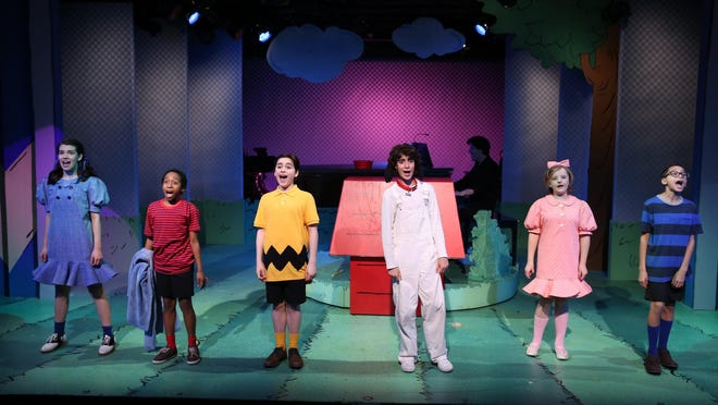 """The cast of """"You're A Good Man Charlie Brown"""" at York Theatre Company."""