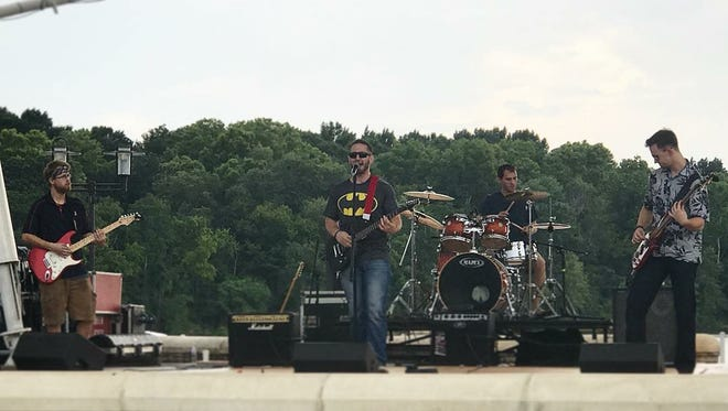 Blaster Burner Funk performs at the Riverwalk Amphitheater in Montgomery in July 2018 during Rock the Park.
