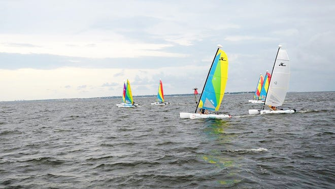 Sailors compete in the 2016 Preemie Cup to benefit the Neonatal Intensive Care Unit at The Studer Family Children's Hospital at Sacred Heart..