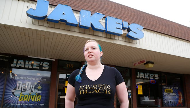 "Katie Buechler speaks to the uncertainty of the future of Chauncey Hill Mall Friday, May 18, 2018, at Jake's Roadhouse. Buechler is a shift manager in the bar popular with Purdue students. ""It's a waiting game,"" Buechler said."