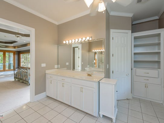 The home features four-and-a-half bathrooms.