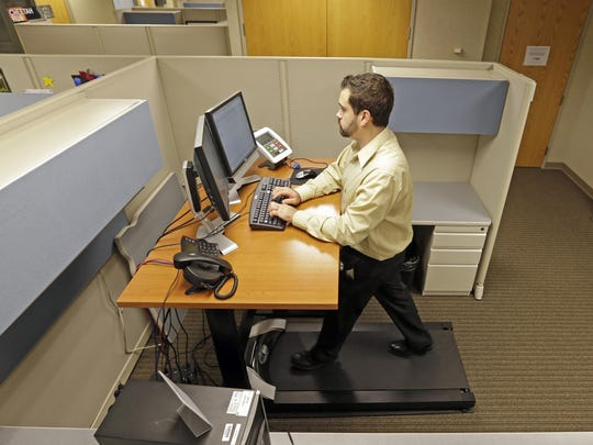 Sitting at a desk for eight hours a day can lead to all sorts of health problems.