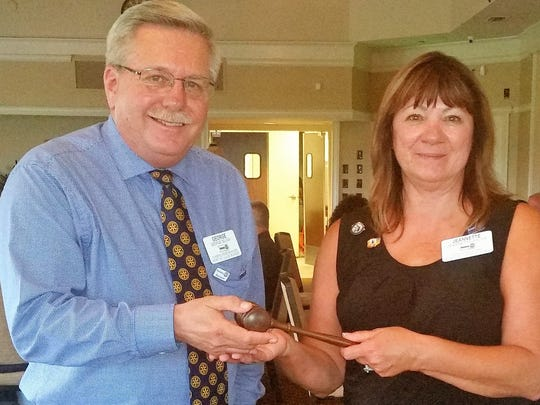 George Seliga and Jeannette Weiss of Port St. Lucie Sunset Rotary