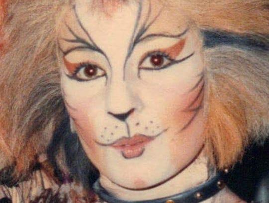 """Susan Santoro Martz in the Broadway show """"Cats."""""""