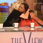 """Jenni McCarthy hugs Sherri Shepherd as she breaks down in tears on """"The View."""""""