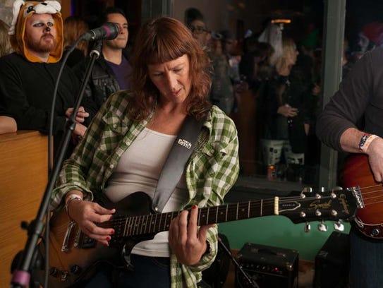 Detroit-based singer-songwriter Audra Kubat performed