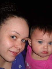 Rebekah Pollard (left) with her goddaughter, Isabel Varona.