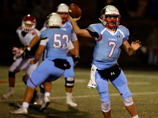 The graduation of Alex Huston means the Glendale Falcons will be looking for a new quarterback.