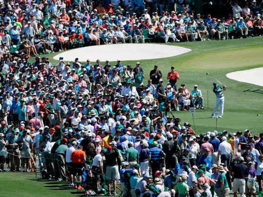 FILE - In this April 9, 2017, file photoSergio Garcia, of Spain, hits from the third tee during the final round of the Masters golf tournament in Augusta, Ga. Garcia, the Masters champion, never felt any different from the Garcia who spent nearly 20 years trying to make sure his career would not be defined as the guy who never could win a major. He says he didn't changed as a person, and he was right. All the change took place before he won the Masters. (AP Photo/David J. Phillip, File)