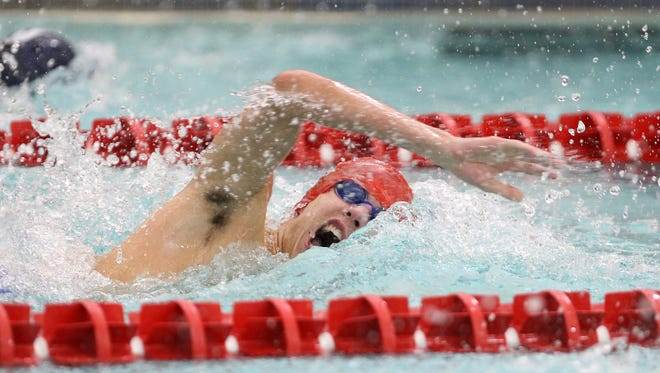 Faiport's Zachery Hook during the 200 freestyle.