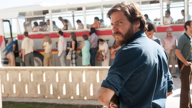 "Wilfried Bose (Daniel Brühl) is a German who has joined the Palestinian cause in ""7 Days in Entebbe."""