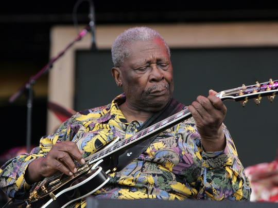 B.B. King performs at Bonnaroo in 2008.