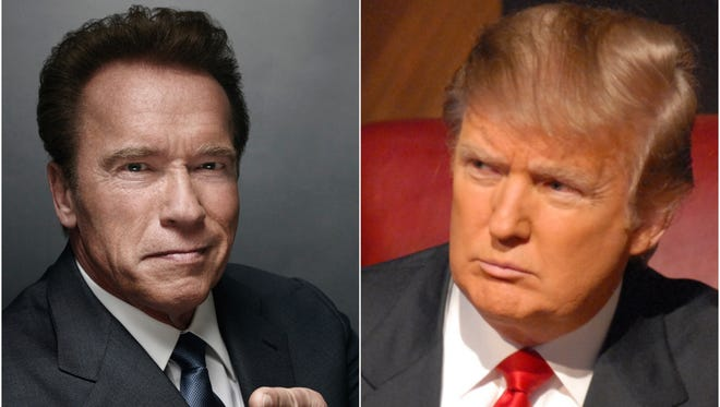 Arnold Schwarzenegger took heat from Donald Trump for his comparatively smaller ratings on NBC's 'Celebrity Apprentice.'
