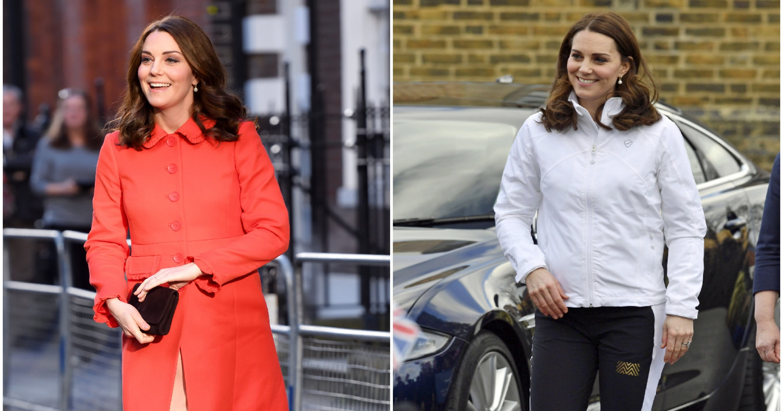 3c2572ae2560 Duchess Kate, the quick-change artist, shows how to swap work wear for  workout gear