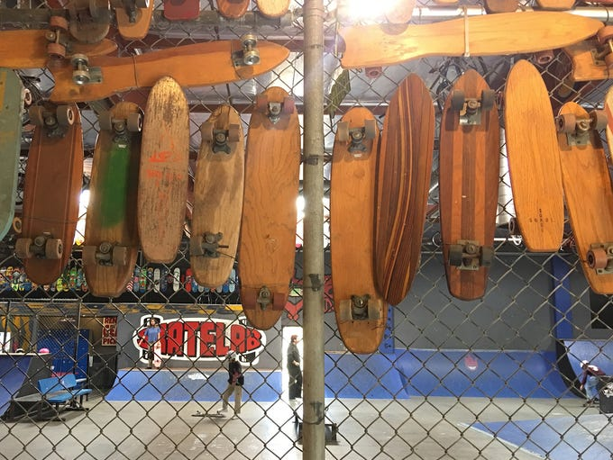 The entrance to Skatelab Indoor Skatepark in Simi Valley