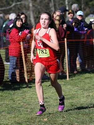 CVU junior Sophia Gorman competes in the Division I girls race at the state championships at Thetford Academy in October.