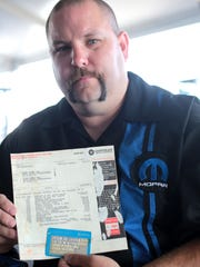 The 1966 Dodge Charger is owned by Jason Hephner of Leetonia Ohio and he holds the original bill of sale for the car he has owned for 18 years.