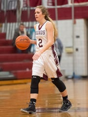 Kara Newell has been key for the Greyhounds this year as one of three seniors.