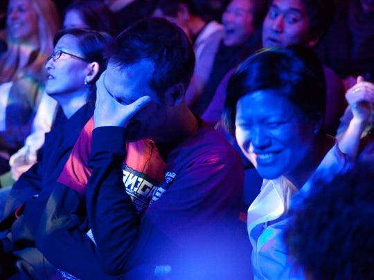 "A ""Mortified"" audience at the DNA Lounge in San Francisco."
