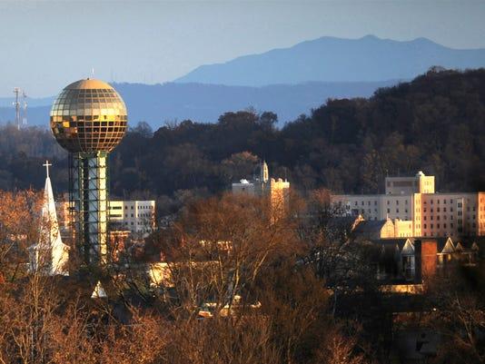 Knoxville skyline sunny