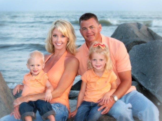 When Brandi Schamadan became a mother, she set in motion traditions that would define them as a family, including sitting for an annual portrait for their holiday greeting card. The portraits were always taken by her best friend and photographer, Kathy Cole. This was the first one, taken on the beach in Coronado Island, where it all began.