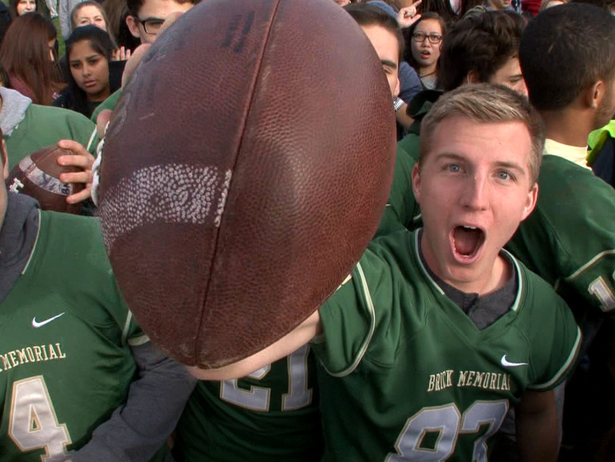 The Red Zone Roadshow visits Brick Memorial High School on Monday, November 30, 2015, in advance of their championship playoff game against Jackson Memorial.