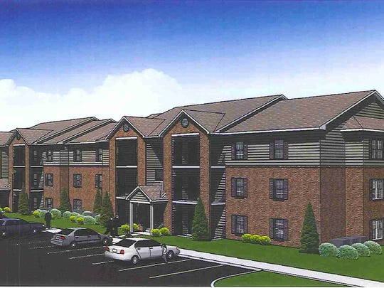 Pictured is a rendering of the proposed family apartments  at South Ankeny Boulevard.
