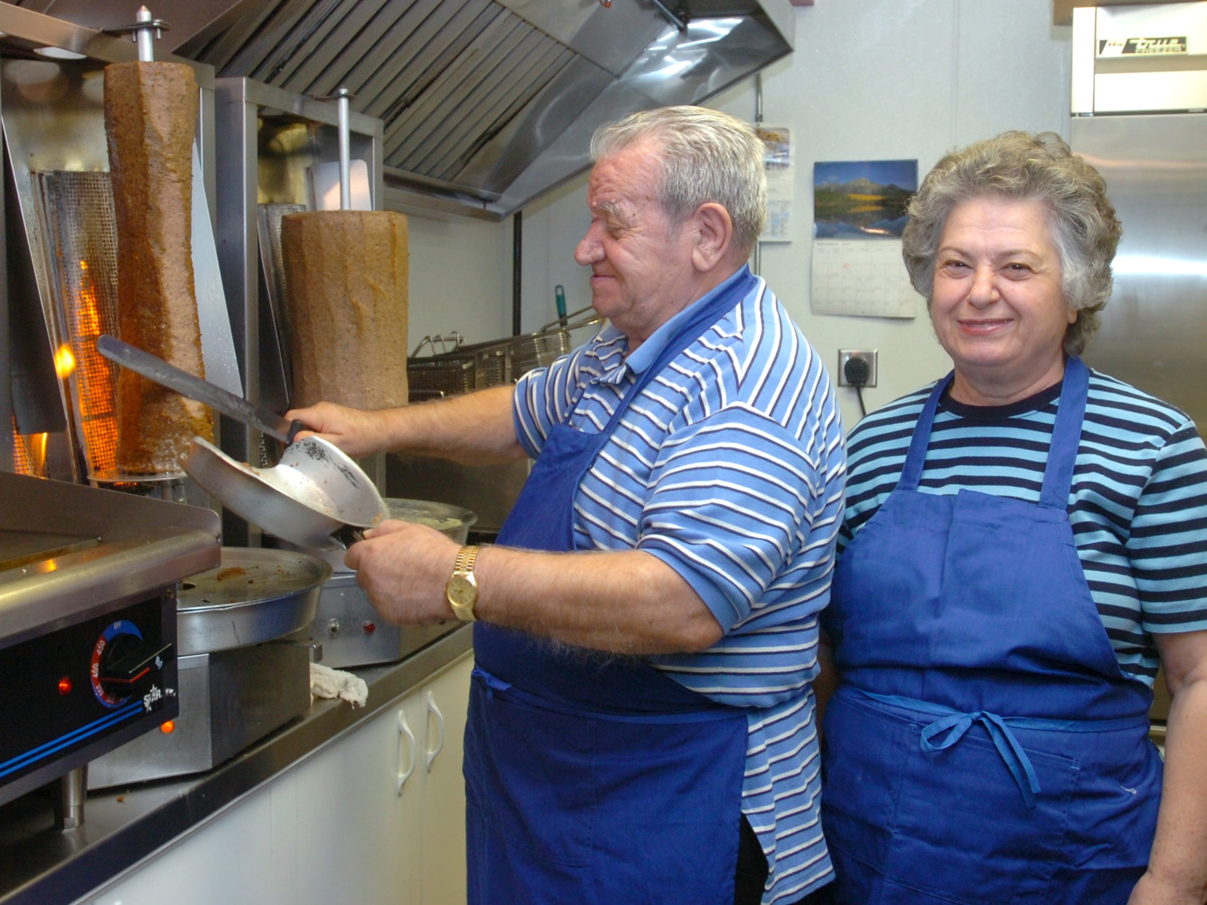 Andreas and Aspacia Geranios, owners of Little Athens, in Holiday Village Mall,  won a small business award from Montana State University in 2007.