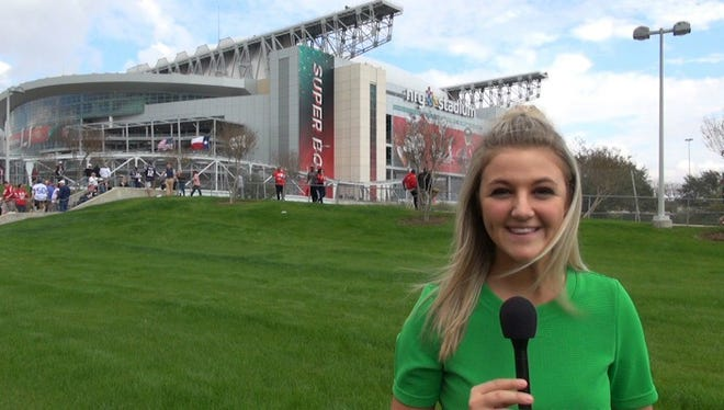 Cedar Crest grad Rosie Langello got a head start in a career in sports journalism over the weekend, covering Super Bowl LI with her fellow students from Northwestern University's Medill School of Journalism.