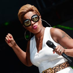 Mary J. Blige performs during Global Citizen 2015 Earth Day on the National Mall on April 18 in Washington, D.C.