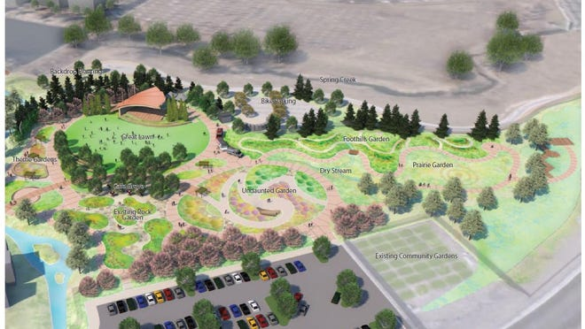 An artist's rendering of the Gardens on Spring Creek expansion plans.