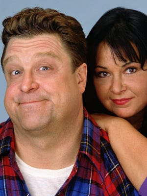 Roseanne Arnold and John Goodman star as the Conners in the popular comedy series, Roseanne on ABC.