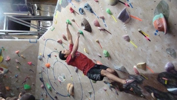 Phoenix Rock Gym in Tempe offers walls with 56 top ropes, a two-level bouldering area  and a lead climbing area.
