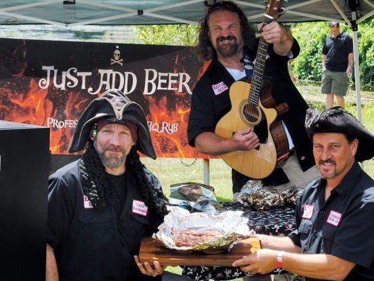 Team Just Add Beer was ready for the barbecue competition.