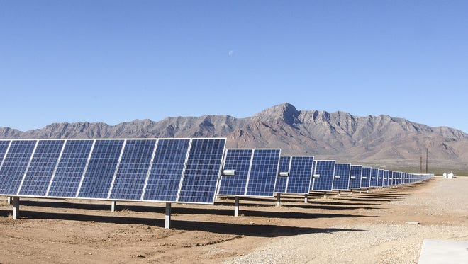 In this file photo, a solar farm is powered by the sun. A solar power field will be installed at the Otero County Prison Facility.