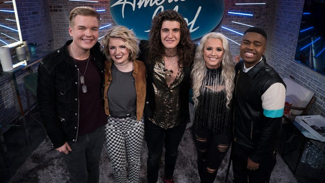 "Caleb Lee Hutchinson, Maddie Poppe, Cade Foehner, Gabby Barrett and Michael J. Woodard are the top five contestants on this season of ""American Idol."""