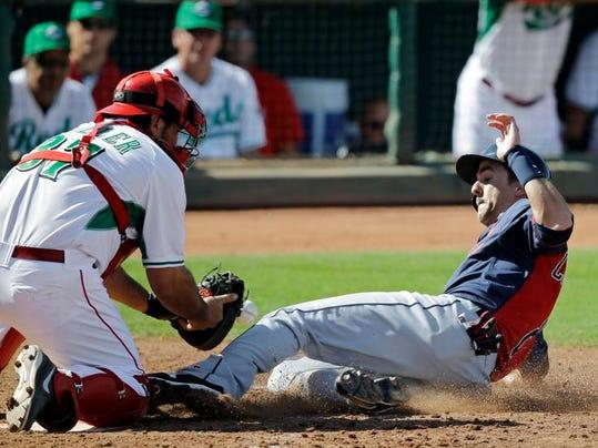 Indians Reds Spring Baseball