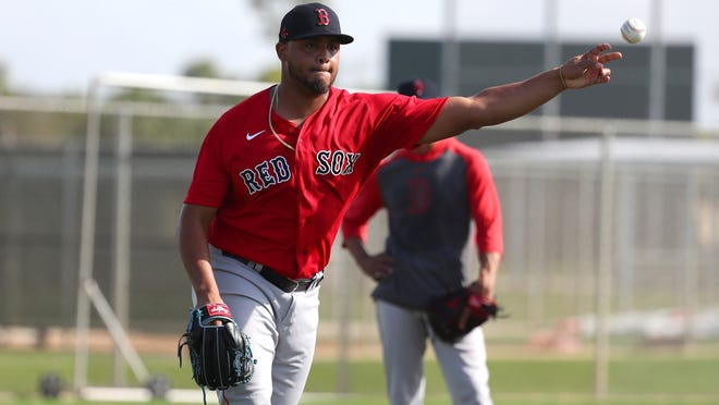 Red Sox left-hander Darwinzon Hernandez remains at home and will require a pair of negative tests before reporting to Boston.