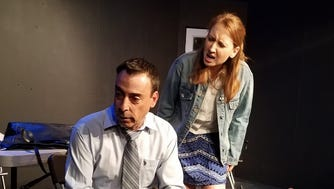 Nick Pascarella of HoHoKus and Gina Zenyuch of Nutley in a scene from Blackbird.
