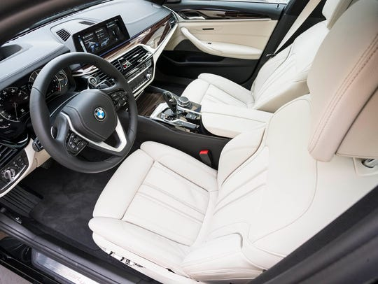 The 2017 BMW 5-series 540 X-drive has a roomy and comfortable