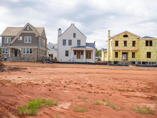 Homes are in progress of being built in the Hartness